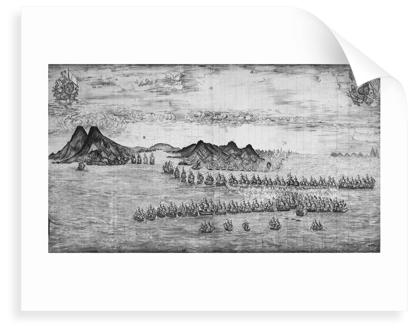 Battle scene depicting fleets of Hood and De Grasse off Martinique, 29 April 1781 by unknown