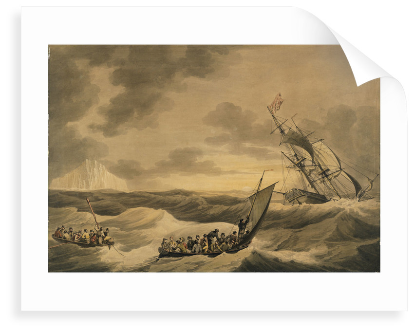 Loss of the Lady Hobart packet boat, also two lifeboat with survivors by John Thomas Serres