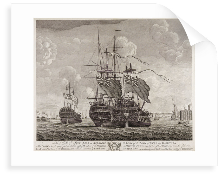 View of the 'Terrible', 'Neptune' and 'Severn' by R. Short