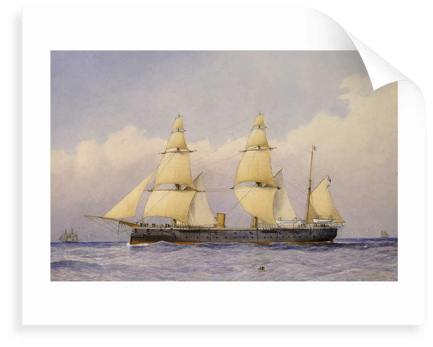 Sail assisted steam vessel 'Eclipse' at sea by William Frederick Mitchell