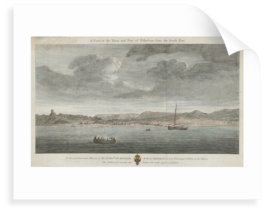 A view of the town and port of Folkestone from the south-east by unknown