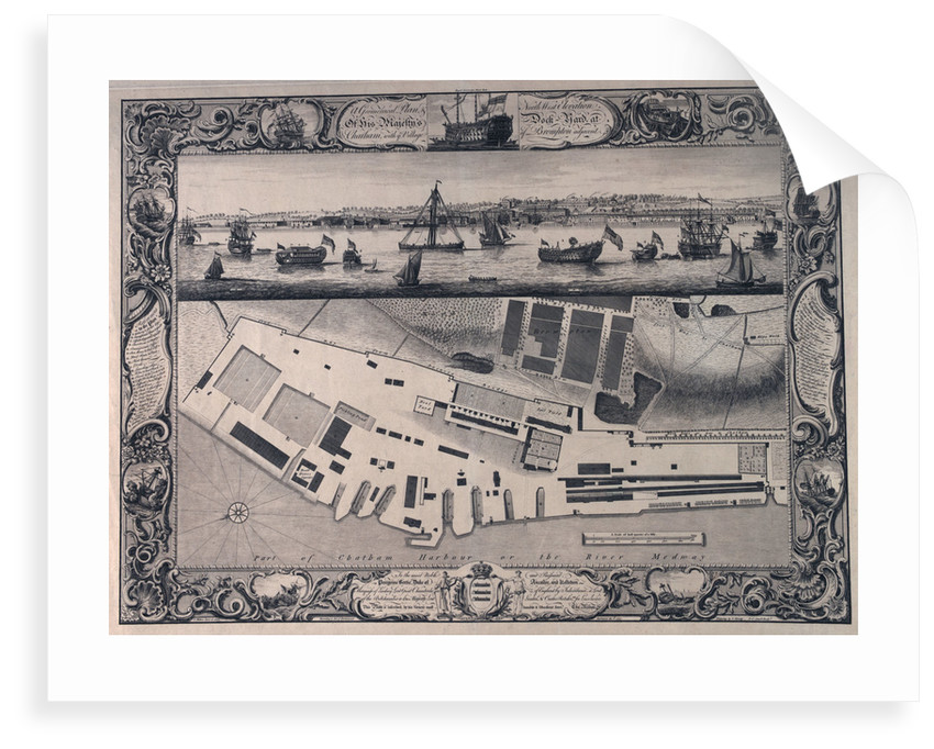 Plan of Chatham dockyard by Thomas Milton