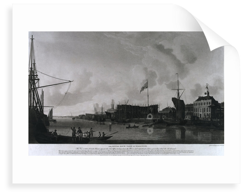 Woolwich dockyard by Thomas Milton