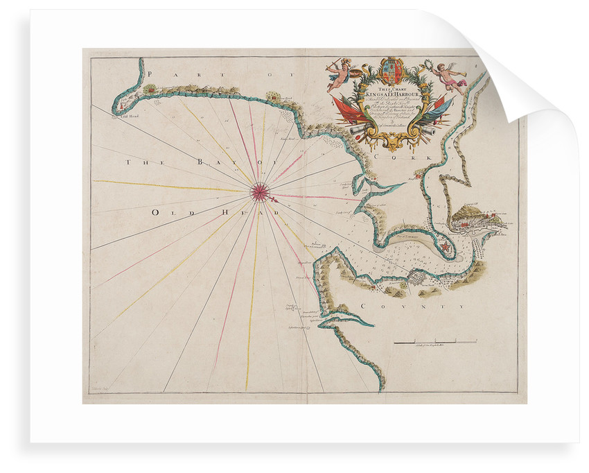 Map of Kingsale Harbour by F. Harris