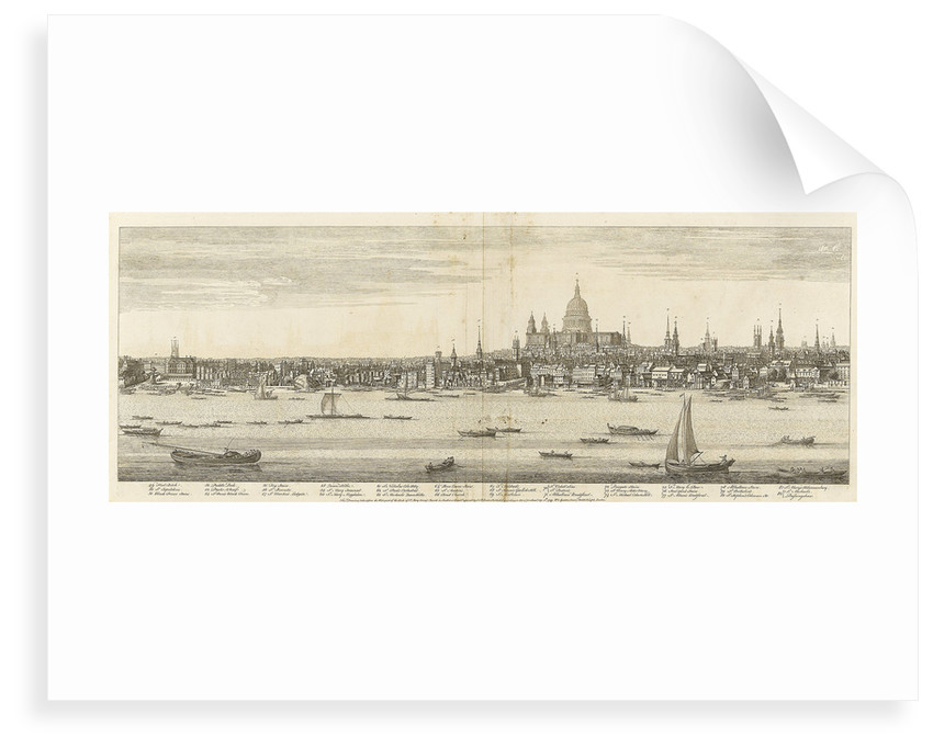 View of the city of London by Samuel Buck