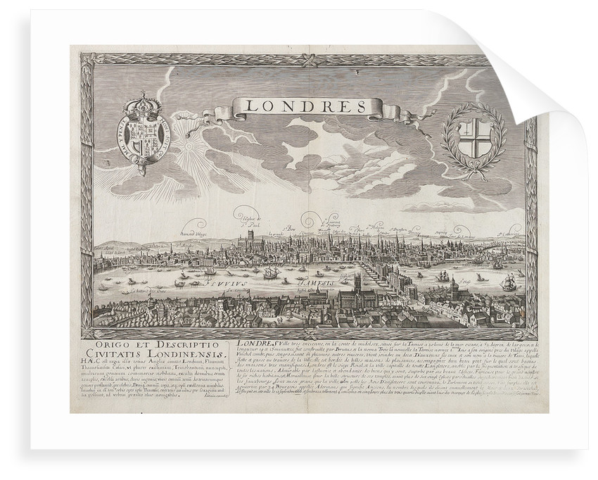 London before the Great Fire of 1666 by unknown