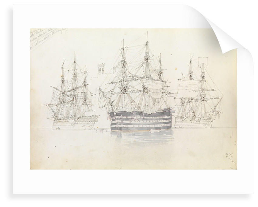 Sail exercise in Malta harbour by George Pechell Mends