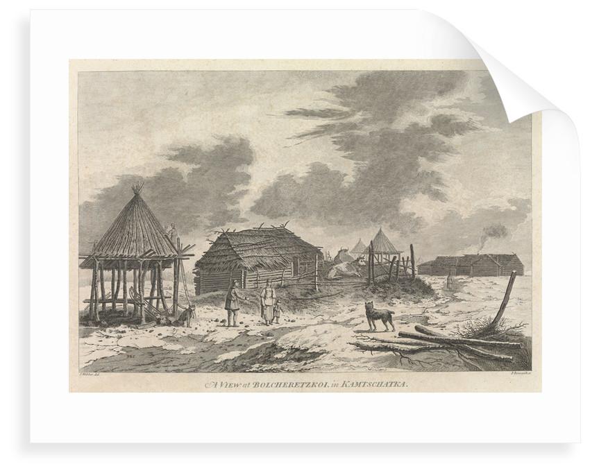 A view of Bolcheretzkoi in Kamtschatka by John Webber