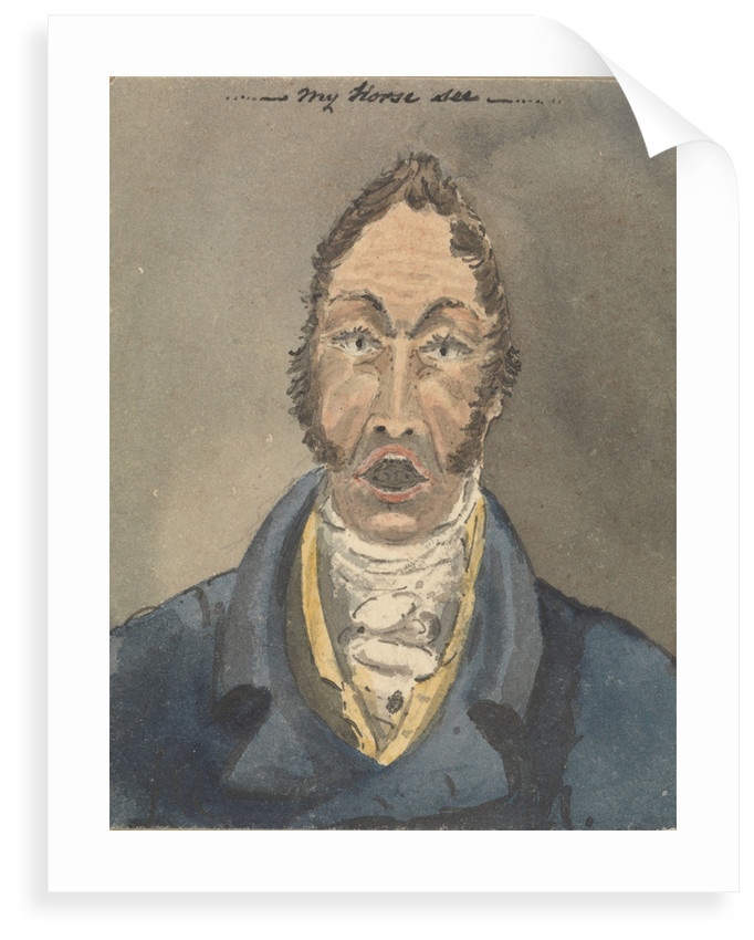 Head and shoulders of a man in blue jacket and white cravat by Robert Streatfeild