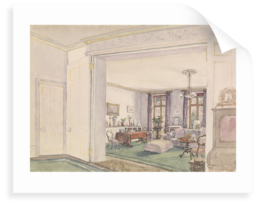 The Fanshawes' sitting room by Edward Gennys Fanshawe