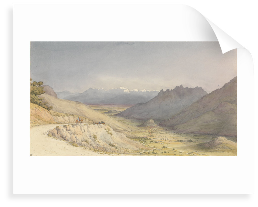 The Cuesta de Chacabuco, looking towards San Felipe de Aconcagua [Chile], Jany 14th 1851 by Edward Gennys Fanshawe