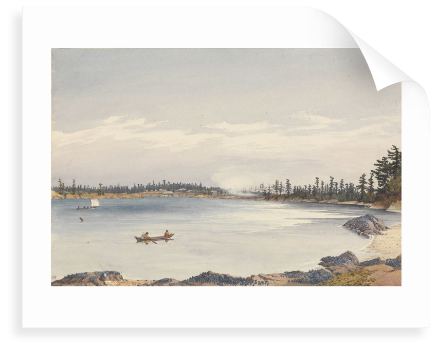 Victoria Settlement, Vancouver Island, Augt 13th 1851 [Canada] by Edward Gennys Fanshawe