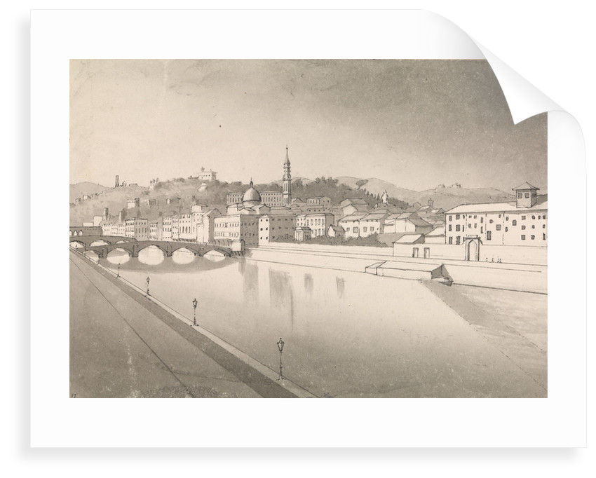 Florence from hotel window on the LungArno, July 1st 1857 [Italy] by Edward Gennys Fanshawe