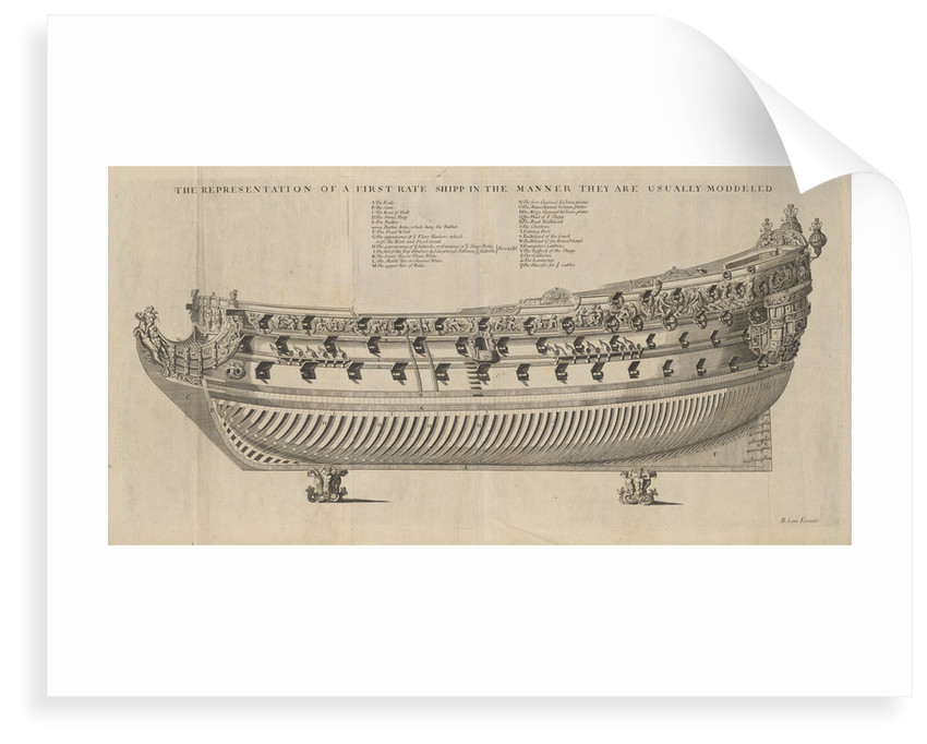 Representation of a First Rate Ship in the Manner they are usually Modelled by unknown