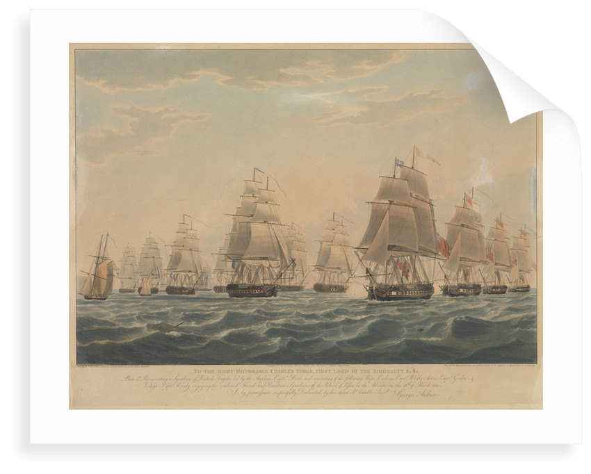 Defeat of the French and Italian squadron, 13 March 1811 by J.L. Few