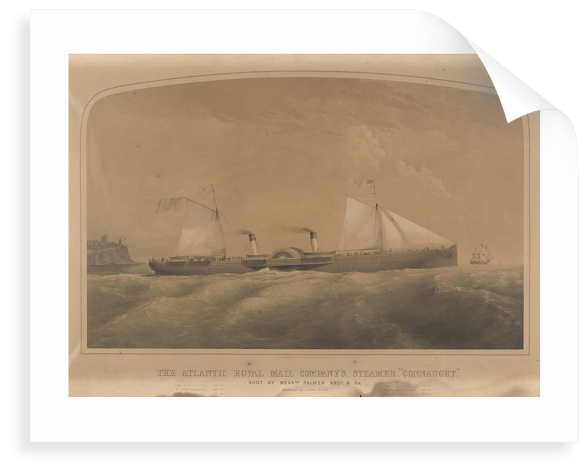 The Atlantic Royal Mail Company's steamer 'Connaught' by J. Jury