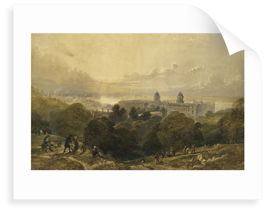 View of Greenwich from the top of Greenwich Park by David Cox Jr