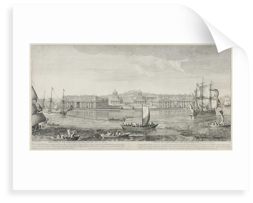 Prospect of Greenwich Hospital from the River...The Old Royal House where the Governor resides stands at the farther end of it at the entrance to Greenwich Park by Jacques Rigaud