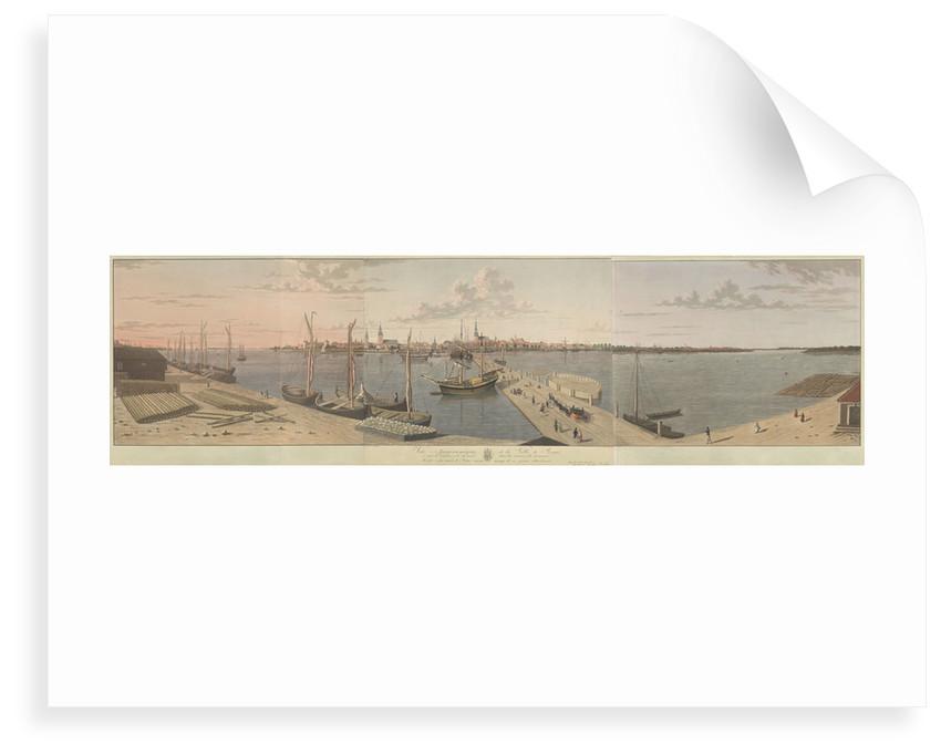 Vue panoramique de la Ville de Riga pris de l'autre cote du pont dans la Maison de Douanier by F. Fielker