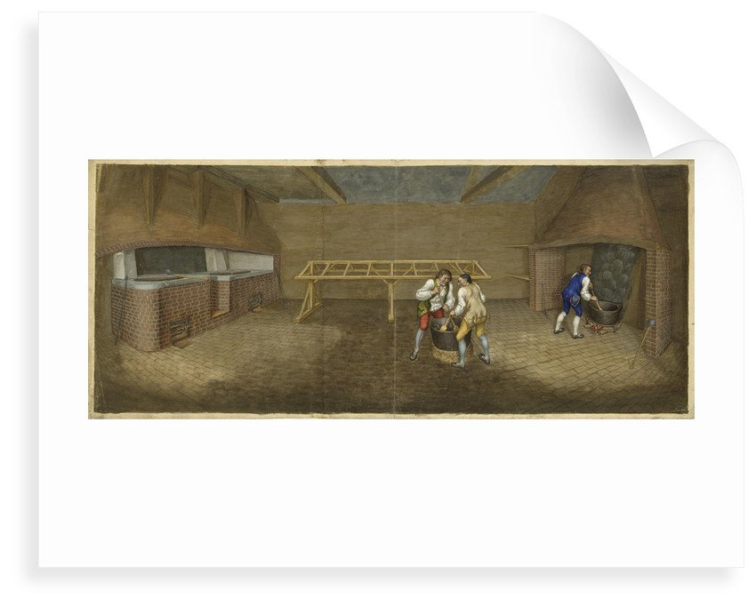 Woolwich Arsenal about 1750. Interior of Furnance Room by unknown