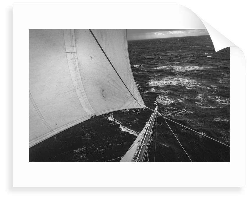Starboard tack in stormy weather, Morgenster VOF by Richard Sibley