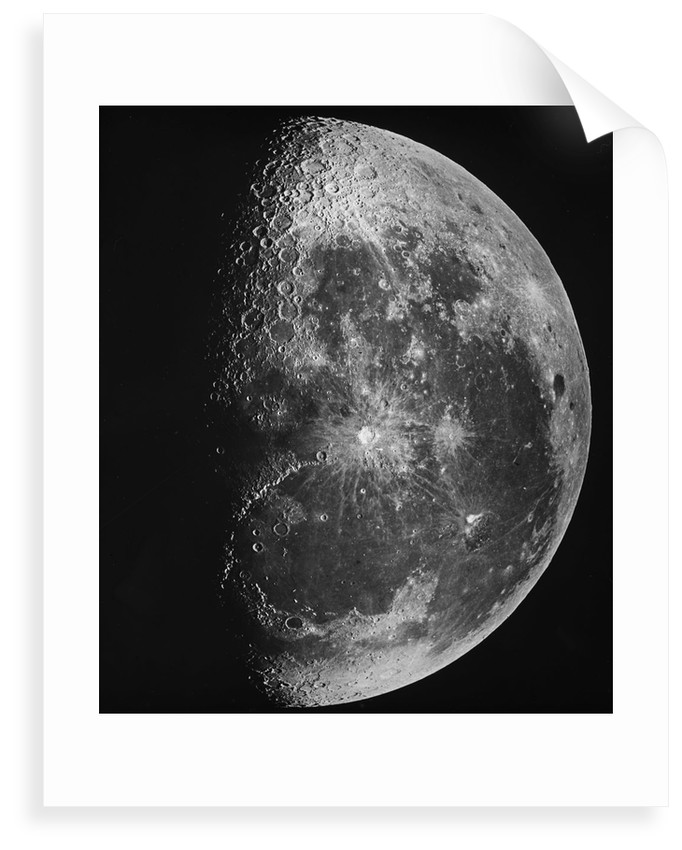 Astronomical glass plate slide of the Moon (1903) by unknown