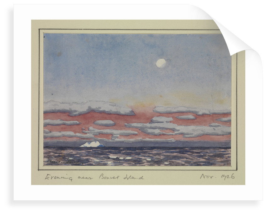Evening near Bouvet Island, Nov 1926 by Sir Alister Hardy