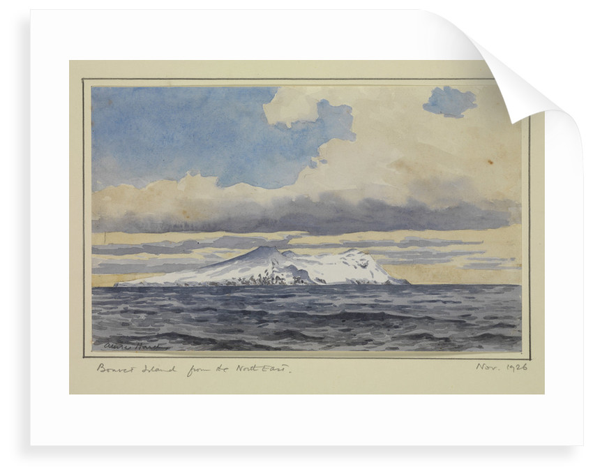Bouvet Island from the North East, Nov 1926 by Sir Alister Hardy