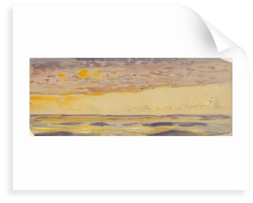 Seascape, yellow sea and purple clouds by John Everett