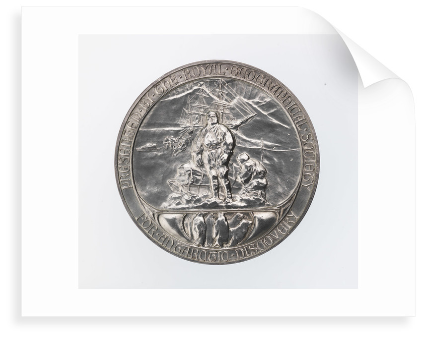 Royal Geographical society medal: Scott's Antarctic Expedition 1902-1904 by Gilbert Bayes