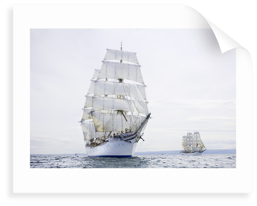 Norwegian three-masted barque 'Statsraad Lehmkuhl' during start of the Liverpool Tall Ships Race 2008 by Richard Sibley