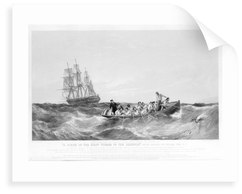 A Scene in the First Voyage of the Shannon under Captain Sir William Peel V.C.... by Edwin Hayes