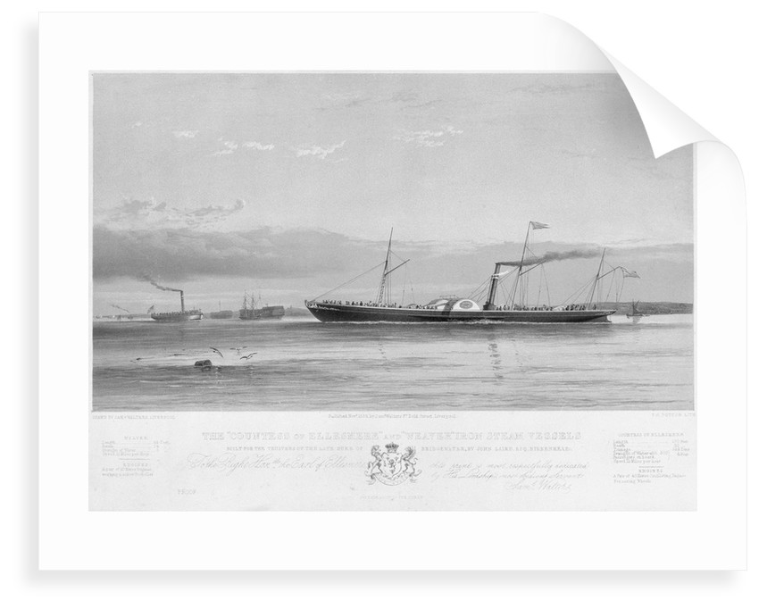 The 'Countess of Ellesmere' and 'Weaver' iron steam vessels by Samuel Walters