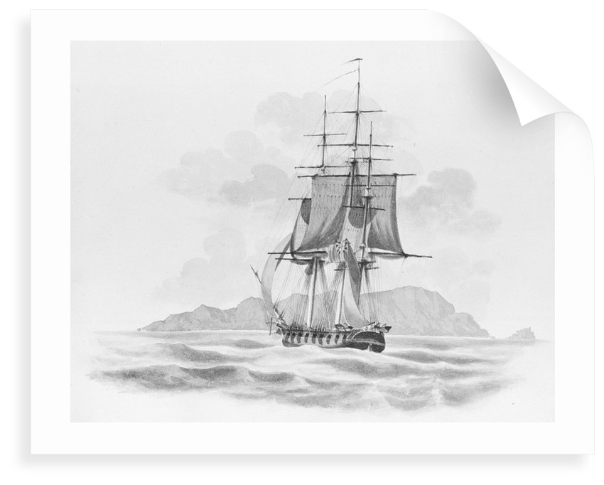 'The Rover' (?) stern on, at sea by unknown