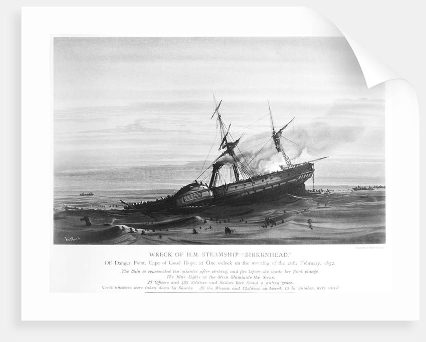 Wreck of HM steamship 'Birkenhead' by Ralph Shelton Bond