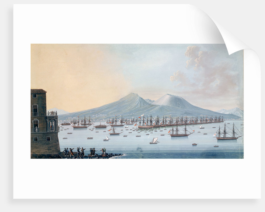 The British fleet at anchor in the Bay of Naples, 17 June 1798 by Giacomo Guardi