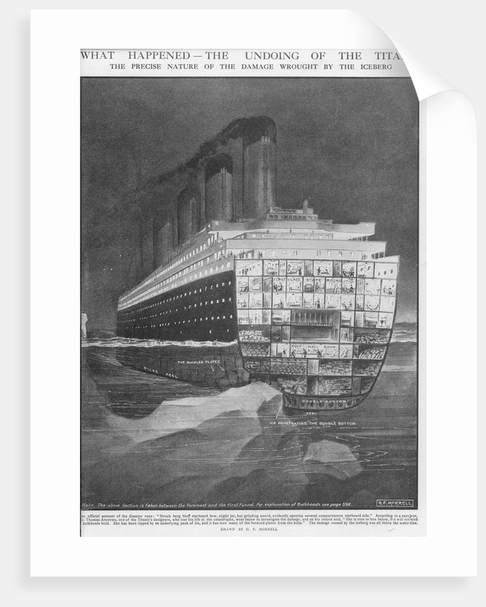 The undoing of the 'Titanic' - nature of damage wrought by the iceberg by G.F. Morrell