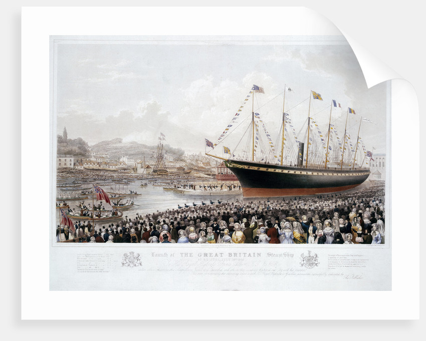 Launch of the Great Britain Steam Ship at Bristol, July 19th 1843 by Joseph Walter