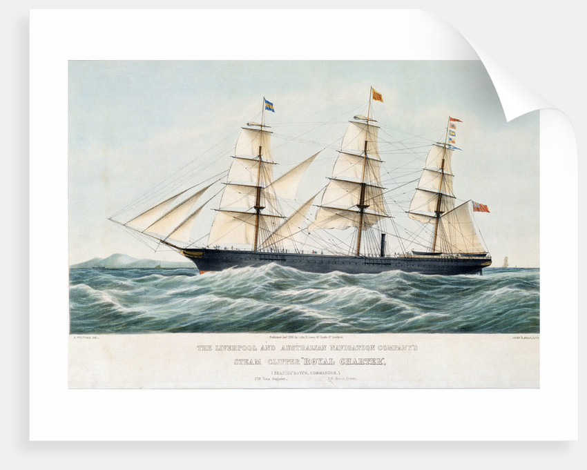 The Liverpool and Australian Navigation Company's steam clipper 'Royal Charter' by Samuel Walters