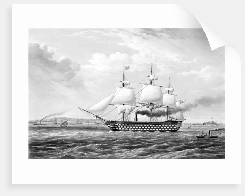 HMS 'The Duke of Wellington', 131 guns by G.H. Atkins