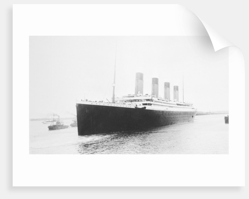 Passenger liner 'Titanic' (Br, 1912) Oceanic Steam Nav Co Ltd, (Ismay Imrie & Co Ltd, managers) (White Star Line): leaving Southampton by unknown
