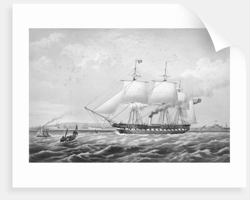 Auxiliary screw-propeller steam frigate HMS 'Arrogant' (1848), 46 guns by Thomas Picken
