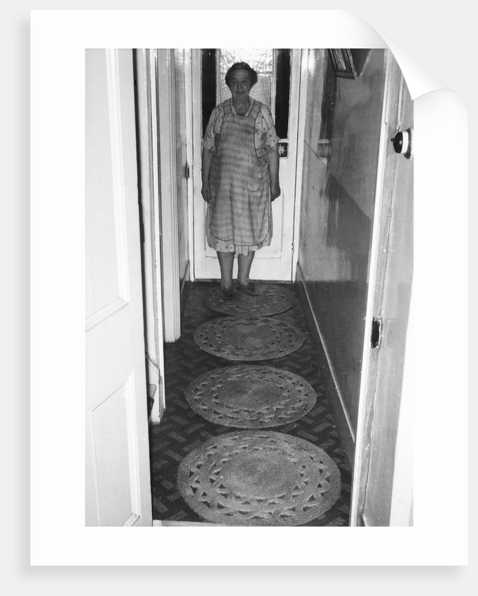 Mrs Larrey with repe mats by unknown