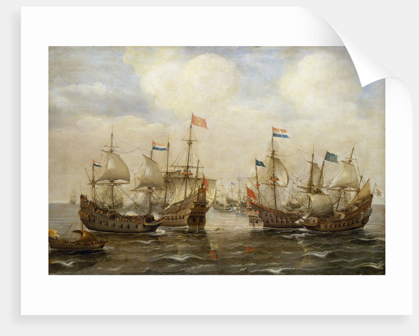 An engagement between the Spanish and the Dutch, circa 1630 by Cornelisz Verbeecq