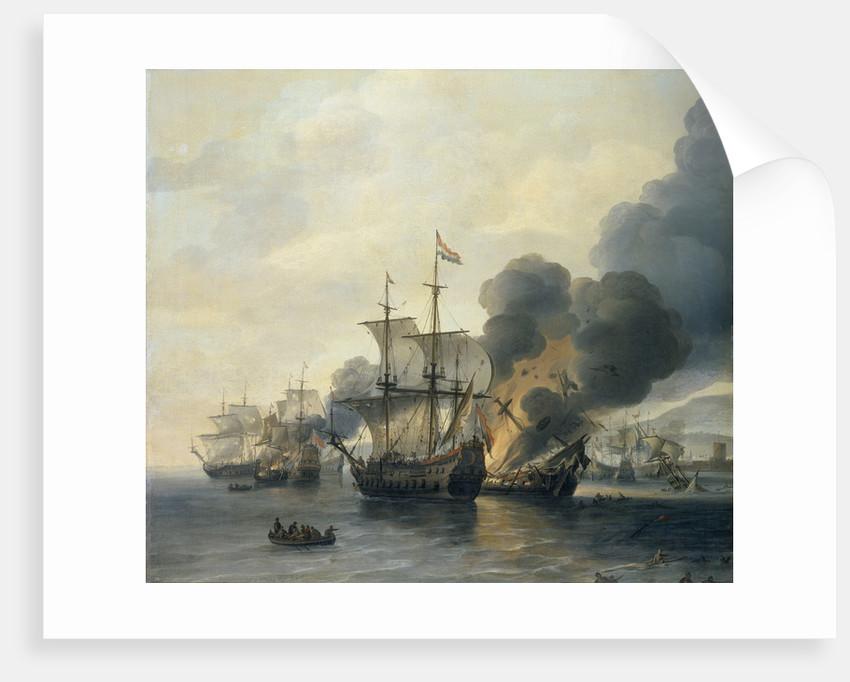 The Battle of Leghorn, 4 March 1653 by Willem Hermansz van Diest