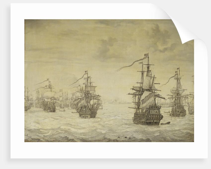 Dutch attack on Harwich, July 1667 by Willem van de Velde the Elder