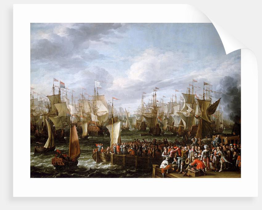 Departure of William III from Hellevoetsluis, 19 October 1688 by Abraham Storck