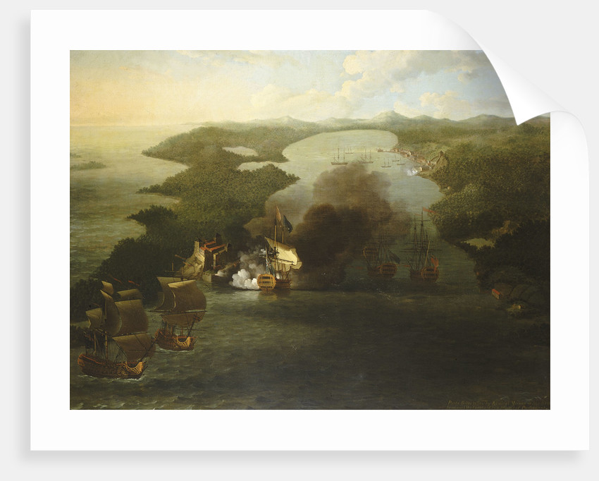 The capture of Puerto Bello, 21 November 1739 by Samuel Scott