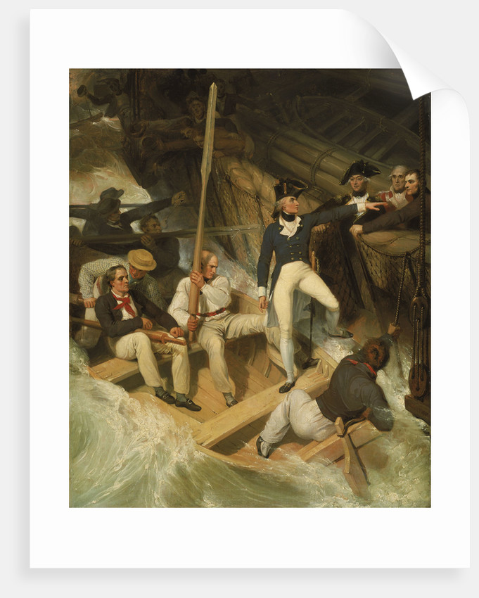 Nelson boarding a captured ship, 20 November 1777 by Richard Westall