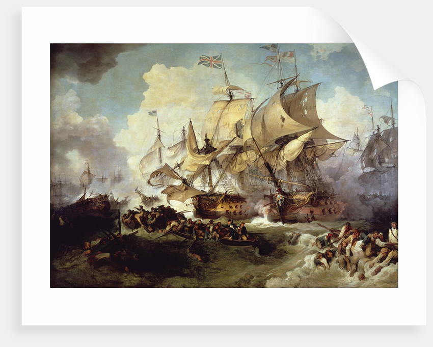 The Battle of the 1 June, 1794 by Philippe-Jacques de Loutherbourg